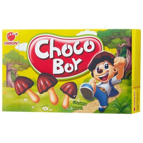 Печенье Choco Boy Грибочки, 45 г конфитрейд маша и медведь печенье грибочки с подарочком 42 г