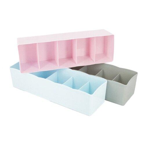 USLANBFAY Комплект ящиков для белья RYP-03 голубой/розовый/серый