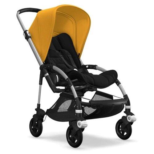 Прогулочная коляска Bugaboo Bee⁵ alu/black-sunrise yellow, цвет шасси: серебристый коляска 3 в 1 esspero classic alu шасси chrome green