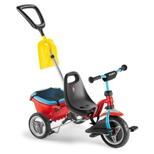 Трехколесный велосипед Puky CAT 1SP красный/голубой