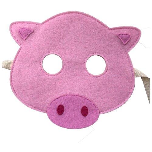 Купить Маска Santa Lucia Свинюшка (3027), розовый, Карнавальные костюмы