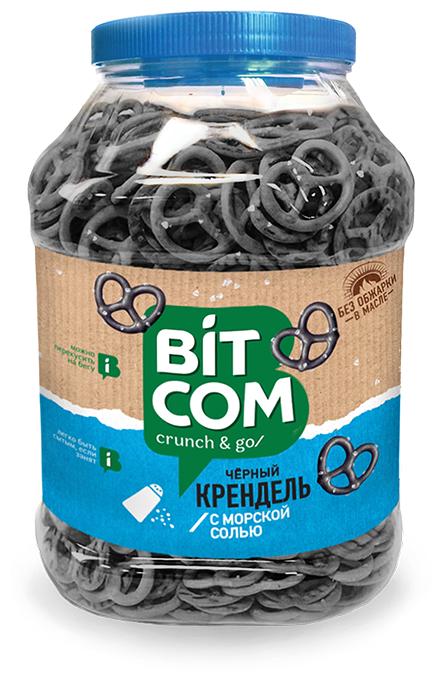 Крендель черный Bitcom с морской солью 460 г