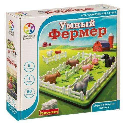 Головоломка BONDIBON Smartgames Умный фермер (ВВ3797) зеленый/белый