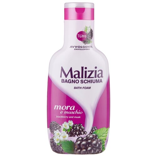 Malizia Пена для ванн Blackberry and musk, 1 л