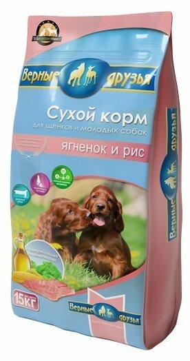 Корм для собак Верные друзья Сухой для щенков - Ягненок и рис (5 кг)