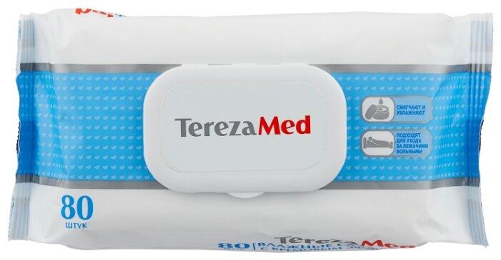 Влажные салфетки Tereza с кремовым эффектом Олива