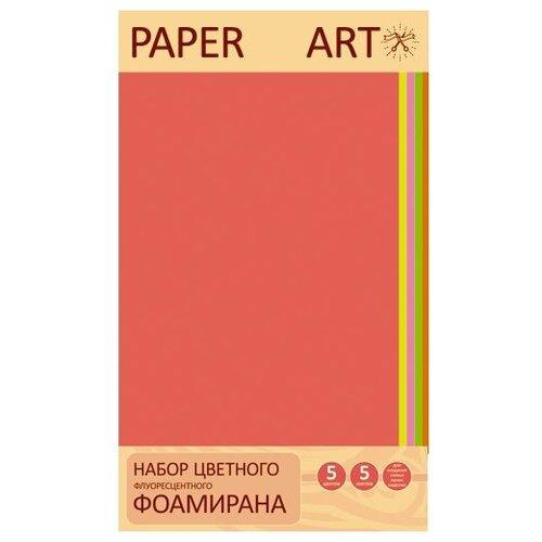 Unnika land Фоамиран Paper Art Неоновые цвета (5 шт.) разноцветный
