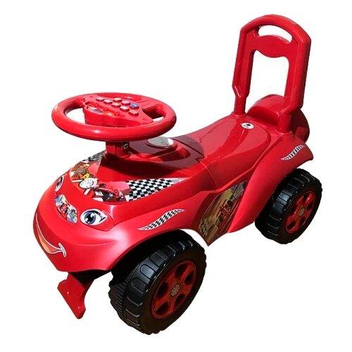 Купить Каталка-толокар Doloni Автошка (013117) со звуковыми эффектами красный, Каталки и качалки