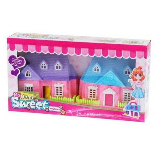Наша игрушка Домик для куклы 856-B, розовый/голубой/фиолетовый игрушка