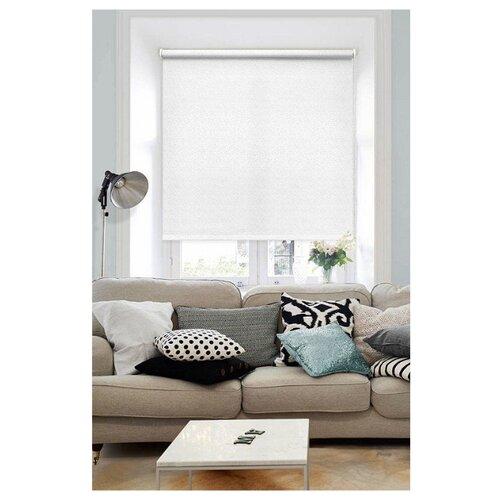 Рулонная штора Эскар Морзе (белый), 140х160 см рулонная штора эскар морзе экрю 140х160 см