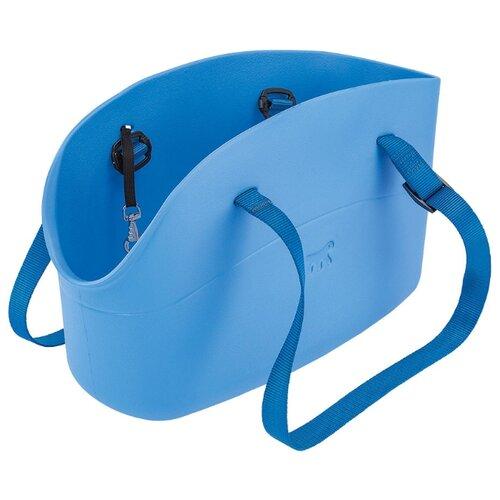 Сумка-переноска для собак Ferplast With-Me Small 35х14х22 см голубой сумка переноска для собак triol лаура 46х26 5х28 см голубой серый