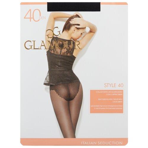 Колготки Glamour Style 40 den, размер 5-XL, nero (черный) колготки glamour style 5 20 den медный