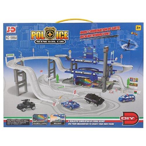 цена JD Chjiahuida Toys Police 59964 голубой/белый/серый онлайн в 2017 году
