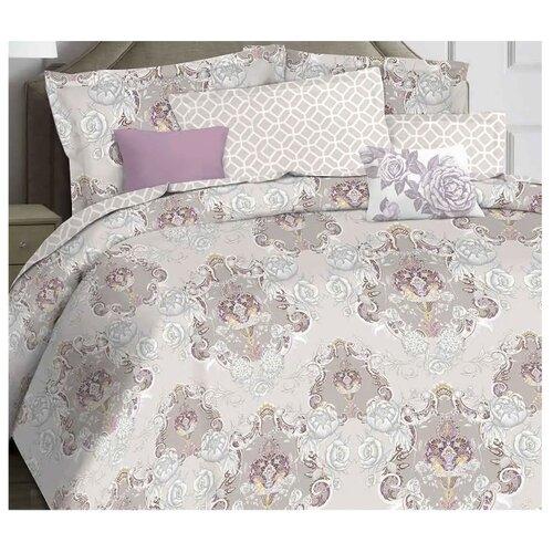 цена Постельное белье 2-спальное Mona Liza Woodrose, сатин серый онлайн в 2017 году