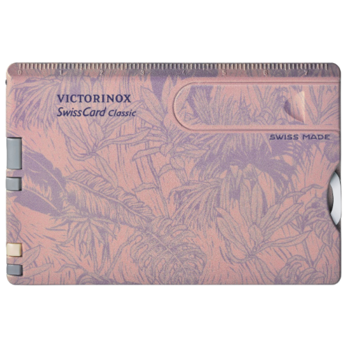 Швейцарская карта VICTORINOX SwissCard Classic spring spirit (0.7155) (10 функций) розовый швейцарская карта victorinox swisscard lite 0 7300 t 13 функций полупрозрачный красный