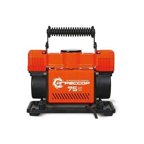 Автомобильный компрессор Агрессор AGR-75 оранжевый