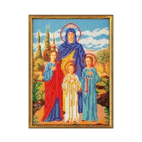Купить Радуга бисера Набор для вышивания бисером №05 Вера, Надежда и Любовь 19 х 26 см (В-179), Наборы для вышивания