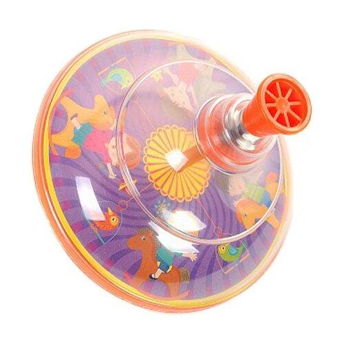 Купить Юла Elefantino Карусель (IT106256/IT106260) оранжевый, Юлы