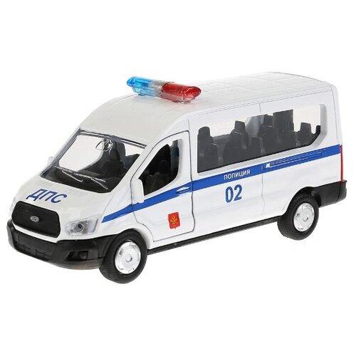 Купить Микроавтобус ТЕХНОПАРК Ford Transit Полиция (SB-18-18-P(W)-WB) 12 см белый/синий, Машинки и техника