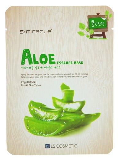 LS Cosmetic тканевая маска S+Miracle с алоэ