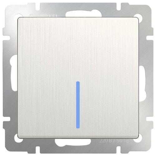 Выключатель 1-полюсный Werkel WL13-SW-1G-2W-LED,10А, перламутровый выключатель 1 полюсный werkel wl06 sw 1g 2w led 10а серебристый