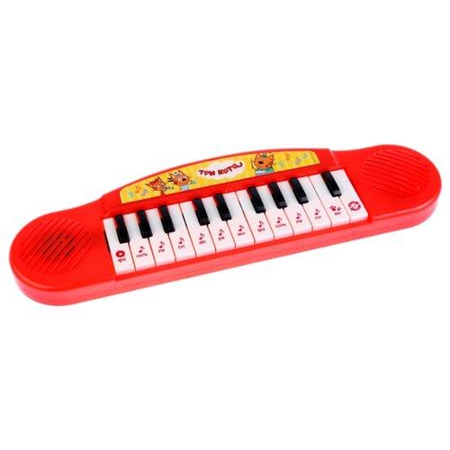 Купить Умка пианино Три Кота B1371790-R15 красный, Детские музыкальные инструменты