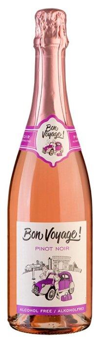 Вино игристое розовое сухое Bon Voyage Pinot Noir безалкогольное 0,75 л