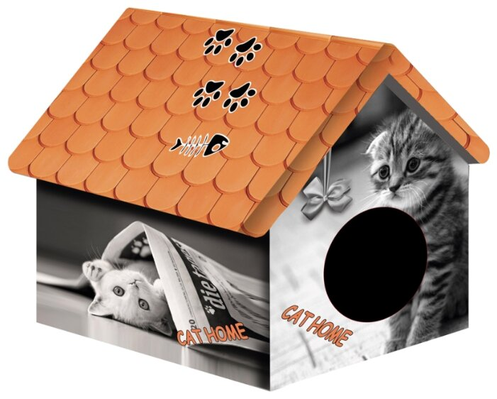 Домик для собак и кошек PerseiLine Кошка