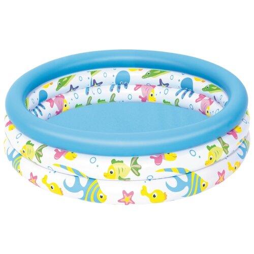 Детский бассейн Bestway Ocean Life 51008 детский бассейн bestway round 2 ring kiddie 51061
