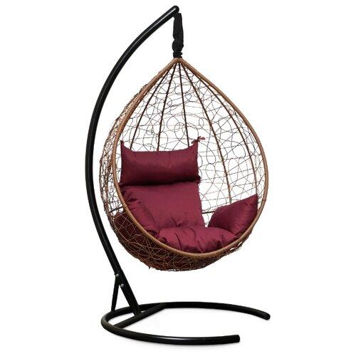Подвесное кресло-кокон Laura Outdoor Sevilla, горячий шоколад/бордовый