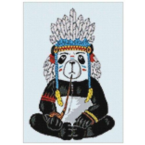 Фото - Гранни Набор алмазной вышивки Хиппи панда (Ag 317) 27х38 см гранни набор алмазной вышивки радужный слон ag 482 27х38 см