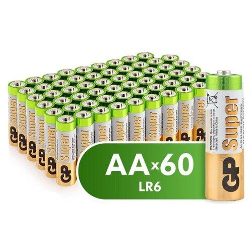 Фото - Батарейка GP Super Alkaline AA 60 шт пленка батарейка gp super alkaline aa 16 шт блистер