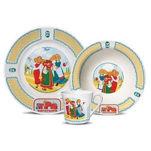 Набор для завтрака PRIORITY Три богатыря Красавицы 3 предмета набор для завтрака osz disney cars принцессы 3 предмета