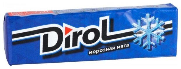 Жевательная резинка Dirol Cadbury Морозная мята, 13,6 г