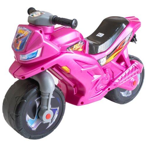 Каталка-толокар Orion Toys Мотоцикл 2-х колесный (501) розовый каталка толокар orion toys мотоцикл 2 х колесный 501 зеленый