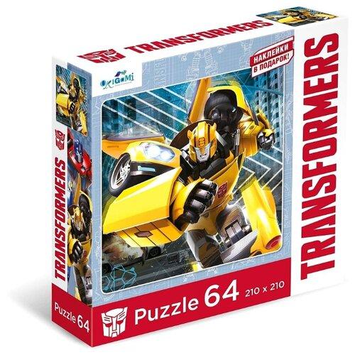 Купить Пазл Origami Трансформеры Бамблби + наклейки (04833), 64 дет., Пазлы