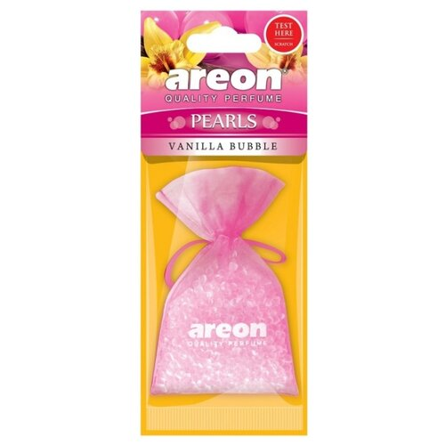 AREON Ароматизатор для автомобиля Pearls Vanilla Bubble ABP08 гелевый ароматизатор для автомобиля vanilla cupcake