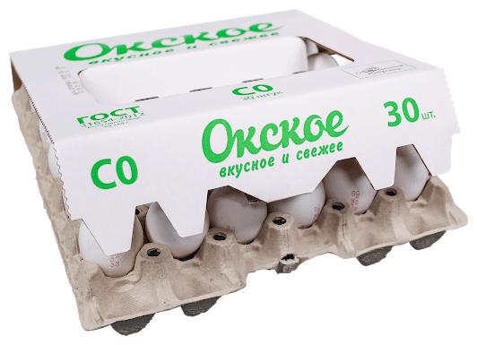 Яйцо куриное Окское столовое C0 пищевое белое 30 шт.