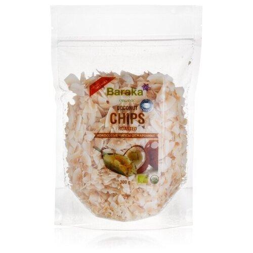 Чипсы Baraka Organic кокосовые обжаренные без сахара, 300 г