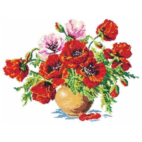 Купить Чудесная Игла Набор для вышивания Маки 34 х 25 см (40-06), Наборы для вышивания