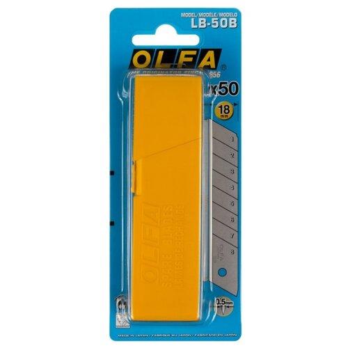 Набор сменных лезвий OLFA OL-LB-50B (50 шт.) набор сменных лезвий olfa ol lb 10b 10 шт
