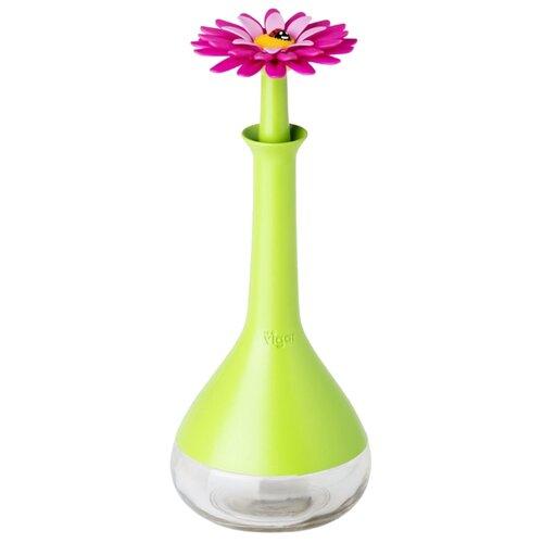 Vigar Сосуд для масла и уксуса Flower Power 7020 салатовый/прозрачный
