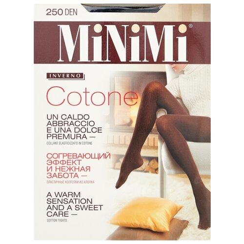 Колготки MiNiMi Cotone 250 den, размер 3-M, nero (черный) колготки minimi cotone 250 den размер 4 l nero черный