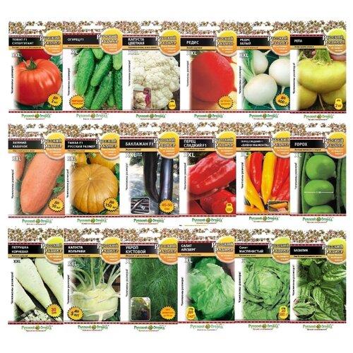 Семена Русский Огород Овощи-великаны набор из 18 пакетов