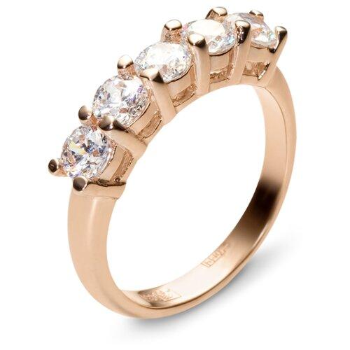Эстет Кольцо с 5 фианитами из красного золота 01К115186, размер 16 эстет кольцо с 5 фианитами из красного золота 01к115186 размер 16