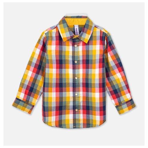 Рубашка playToday размер 74, темно-синий/темно-красный/желтый рубашка женская bello belicci цвет темно синий sa1 9 размер xl 48