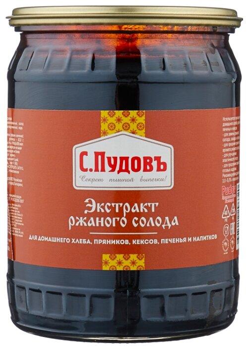 С.Пудовъ экстракт ржаного солода 650 г