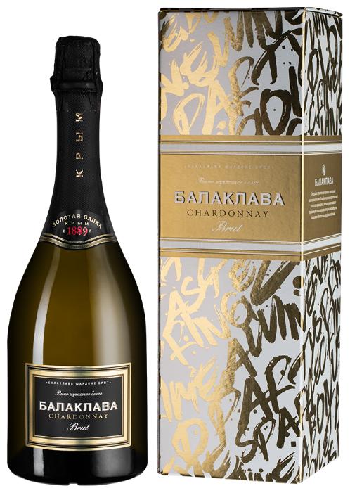 Игристое вино Золотая Балка Balaklava Chardonnay Brut, 0.75л