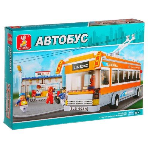 Купить Конструктор SLUBAN Автобус M38-B0332 Троллейбус, Конструкторы