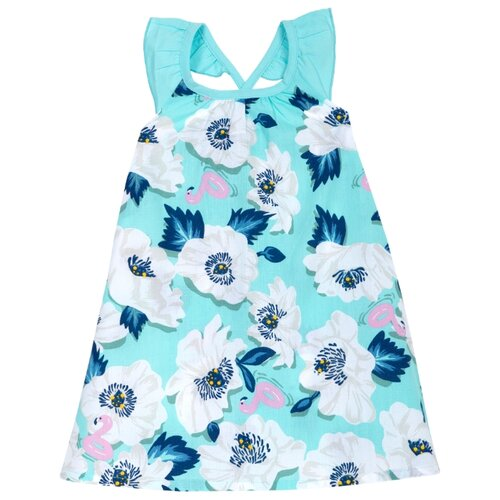 Платье Chicco размер 98, бело-голубой